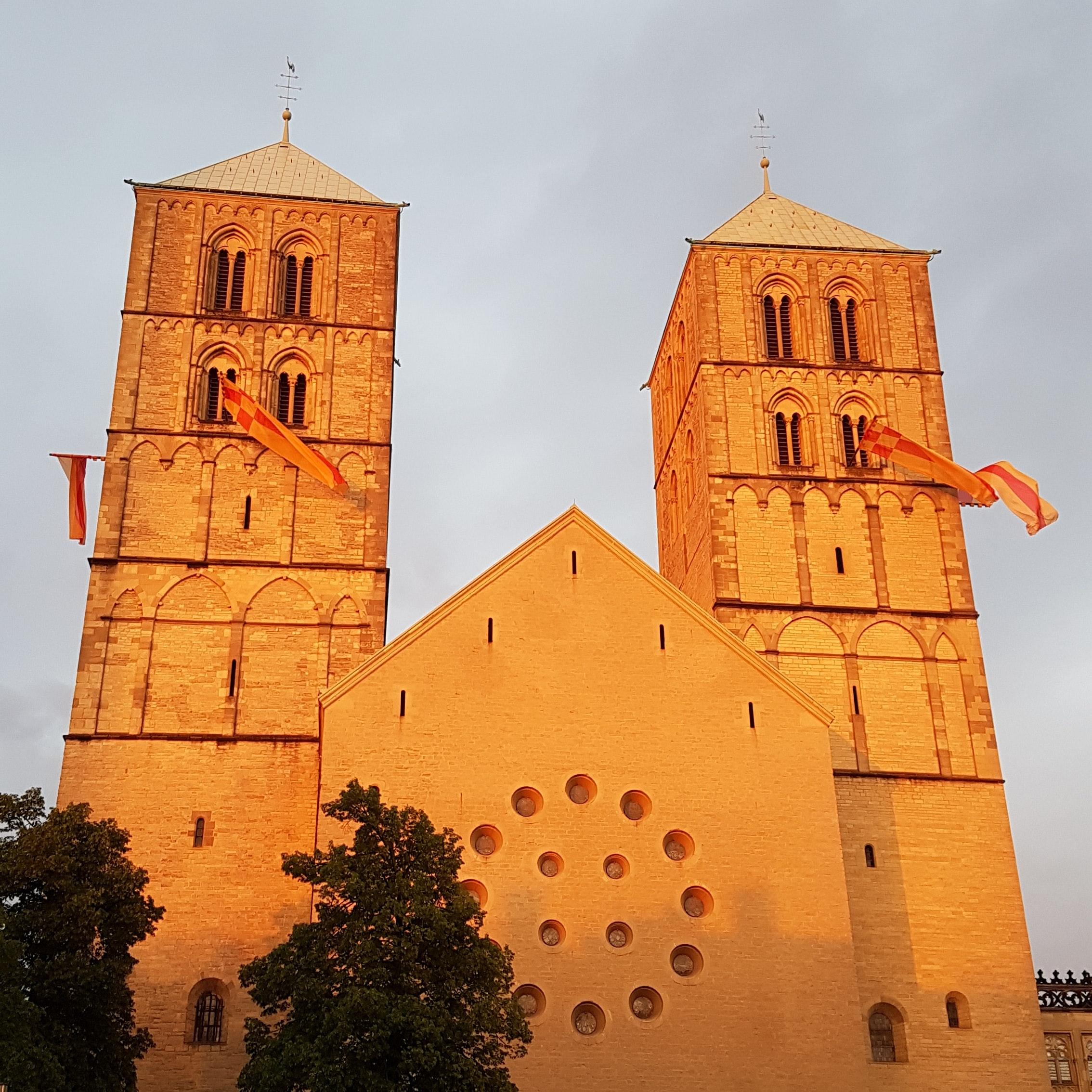 Dom in Münster am Donnserstagabend