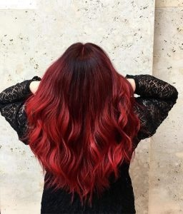 Rotes Haar vom Friseur in Münster Arkaden