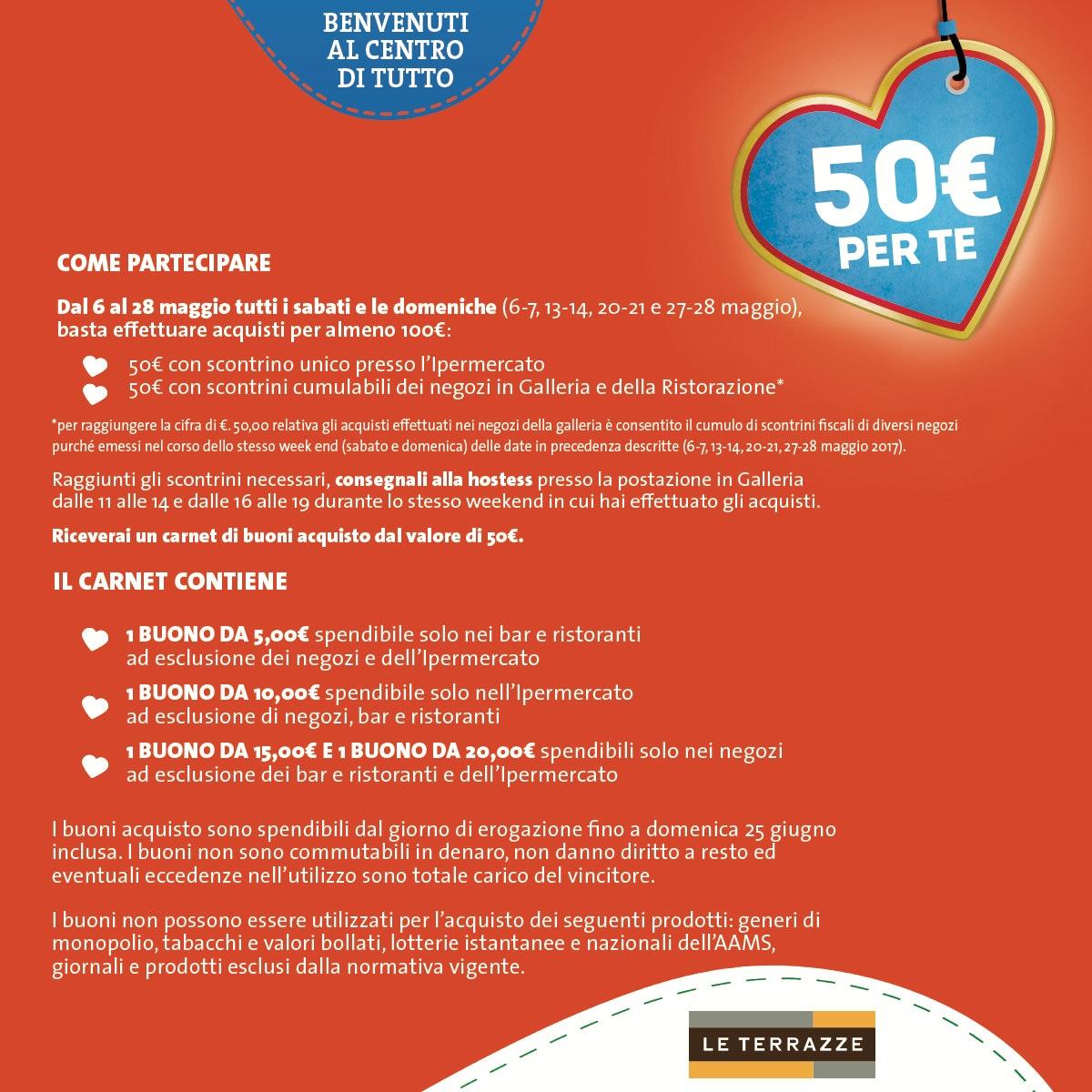 50€ PER TE - Le Terrazze