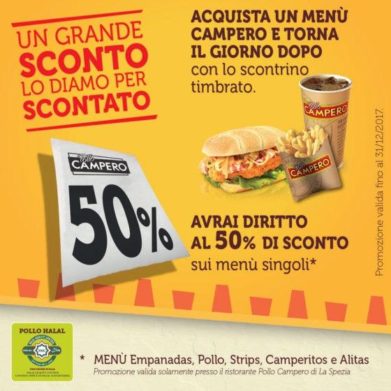 Promo 50% 1200X1200 facebook La Spezia