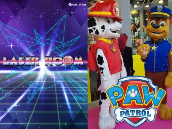 A novembre ci divertiamo con il Laser Game e i PAW Patrol