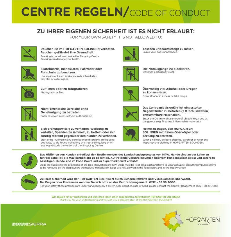centre regeln