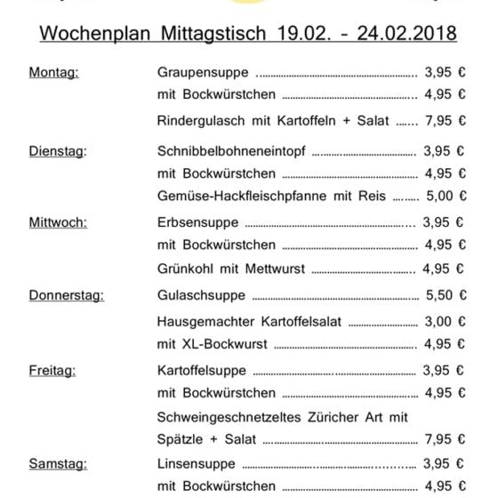 Mittagstisch Back-Café Machenbach