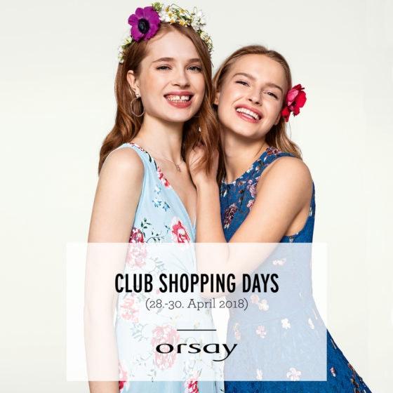 CLUB SHOPPING DAYS