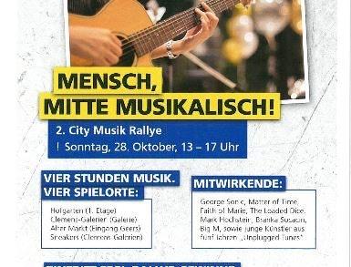 2. City Musik Rallye von 13 bis 17 Uhr