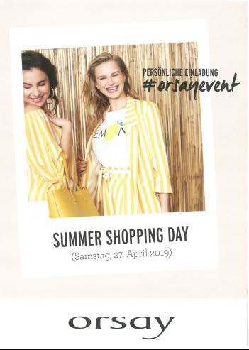 Summer Shopping Day bei orsay