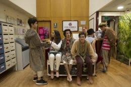 Muitos foram os jovens atores que participaram nesta peça
