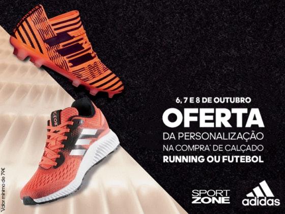 Personalize os seus Adidas na nossa Sport Zone