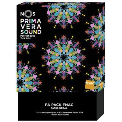 Fã Pack Fnac NOS Primavera Sound 2018 - Passe 3 Dias, 112,75€, na FNAC