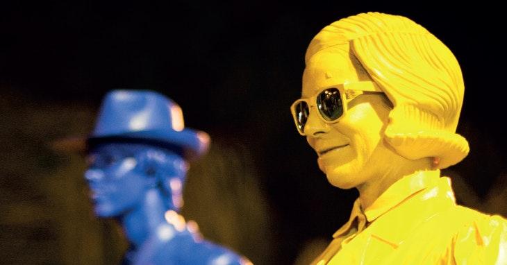 A felicidade que é ter estátuas vivas pelo nosso Centro!