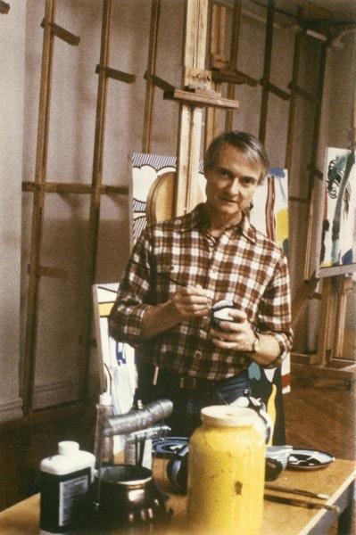 A trabalhar, em Nova Iorque, no ano de 1984.