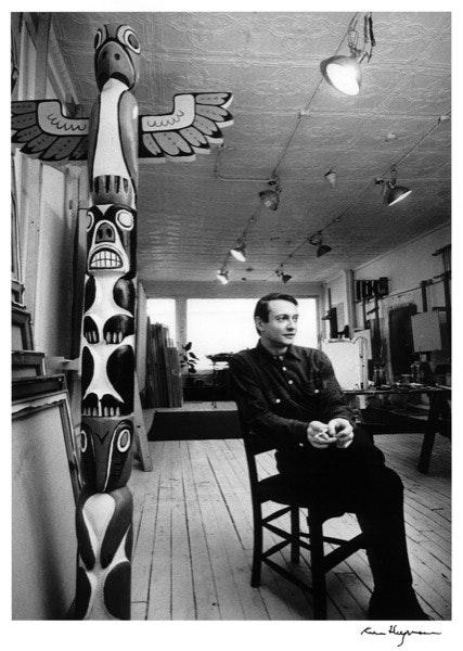 Já em Nova Iorque, em 1964, num estúdio que teve na Rua 26.