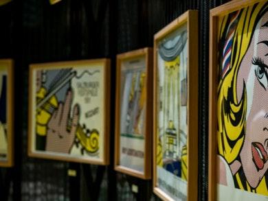 """""""Roy Lichtenstein e a Pop Art"""", na Praça Central do nosso Centro."""