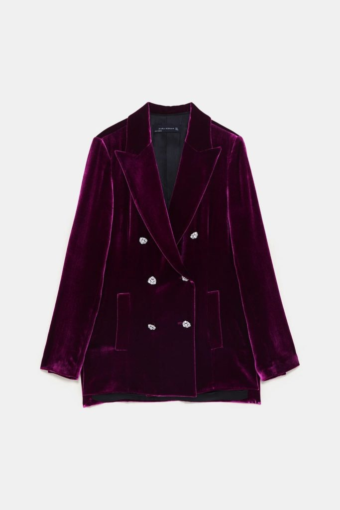 Blazer roxo, Zara, 89,95€