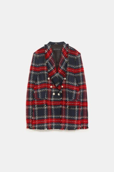 Blazer tweed, Zara, 79,95€