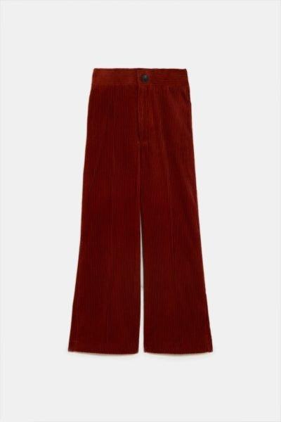 Calças largas de cintura subida, Zara, 25,95€