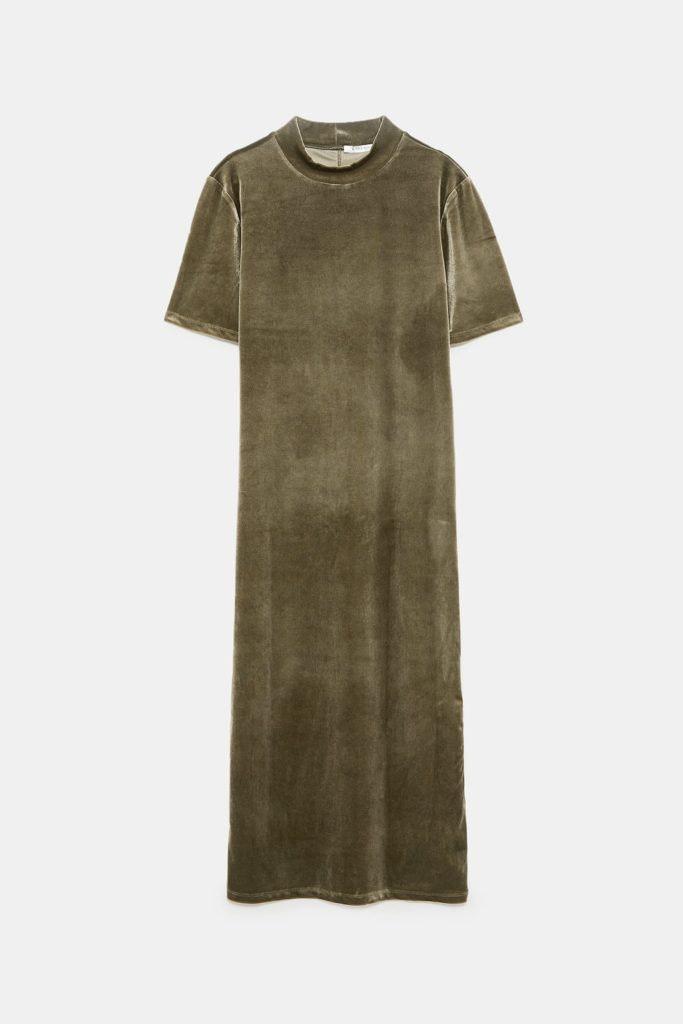 Vestido com gola alta, Zara, 12,95€