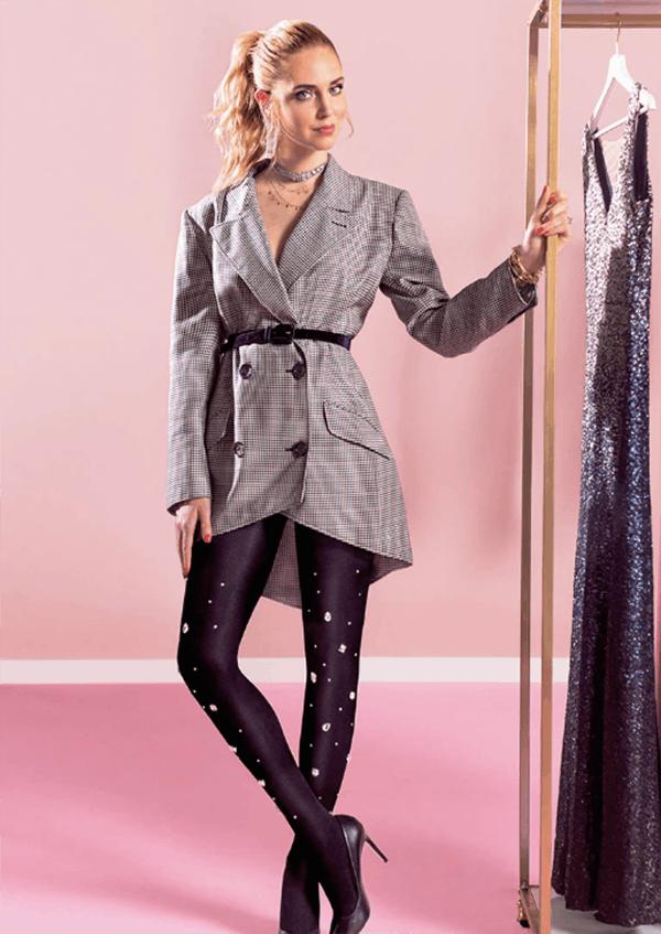 PANTS OFF, TIGHTS ON | Chiara escolheu estas meias para substituir calças e conseguir um look mais confortável e mais feminino.
