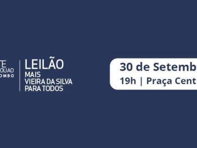 """Leilão mecenático """"Mais Vieira da Silva para todos"""" no Colombo"""