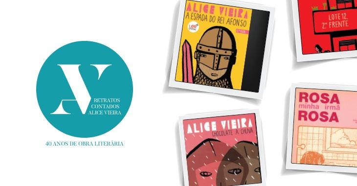 Retratos Contados: a literatura de Alice Vieira em exposição