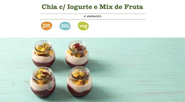 4. Chia c/ Iogurte e Mix de Fruta