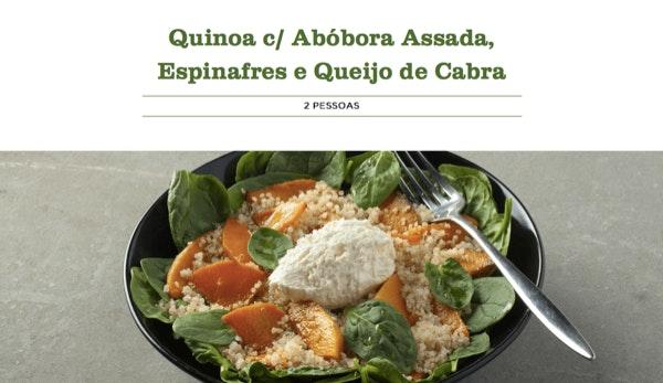 5. Quinoa c/ Abóbora Assada, Espinafres e Queijo de Cabra