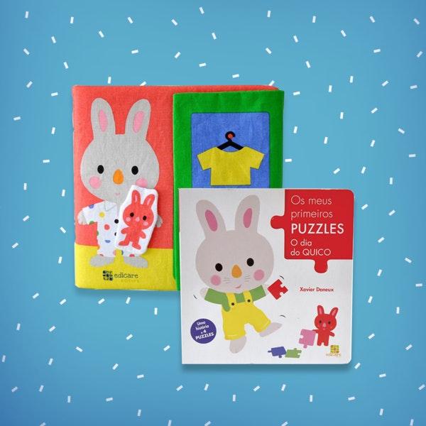 Idade: 0-2 anos As Roupinhas do Martim, 16,95€ e os Primeiros Puzzles O Dia do Quico, 7,95€