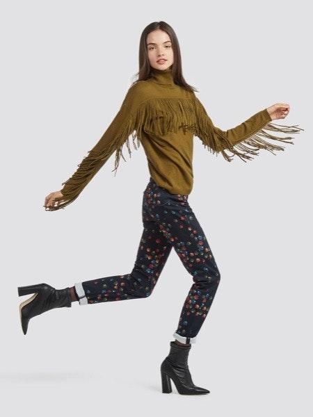 Camisola de franjas 125€ -30%, calças padrão 139€ -50%