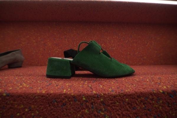 Sandália Salto Croute Verde, 101€