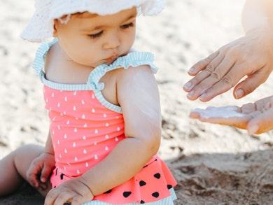 Protetor Solar para Bebés e Crianças com menos de 1 ano