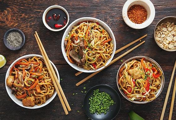 Uma viagem pela comida asiática no nosso Centro
