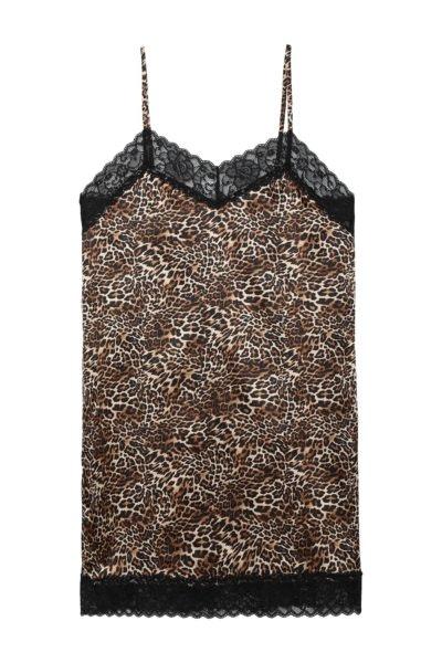 Vestido de renda e animal print, Tezenis, 16,99€