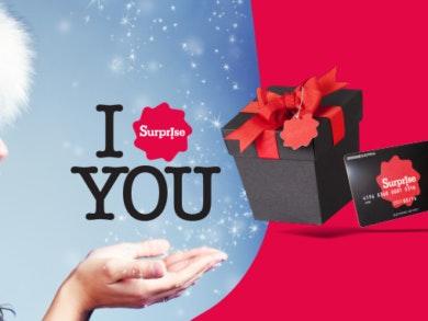 Surprise!!!!! Temos o cartão ideal para si neste Natal!