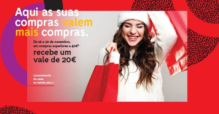 Campanha promocional para aproveitar as compras de Natal ao máximo!