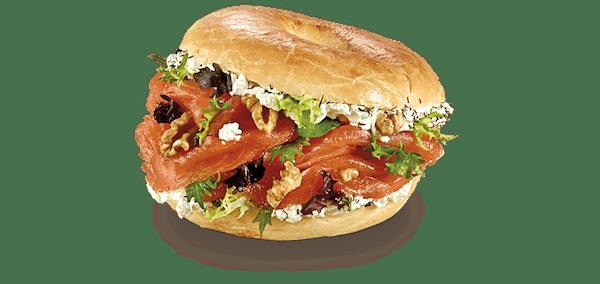 Premium Bagel de Salmão