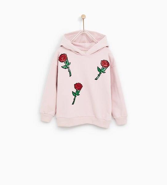 Sweatshirt, Zara Kids, antes a 15,95 agora a 7,99€