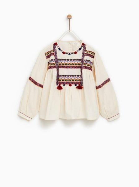 Blusa bordada, Zara, 19,95€