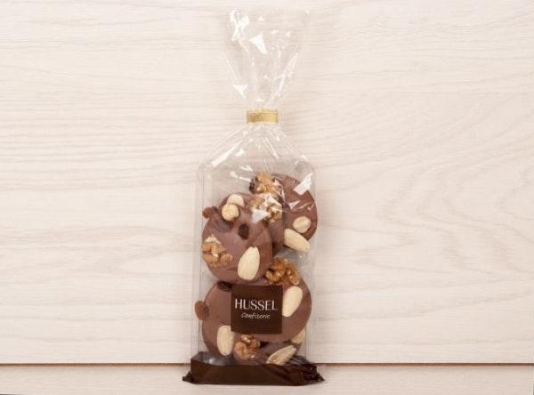 Mendiants de Chocolate de Leite, Hussel, 3,98€