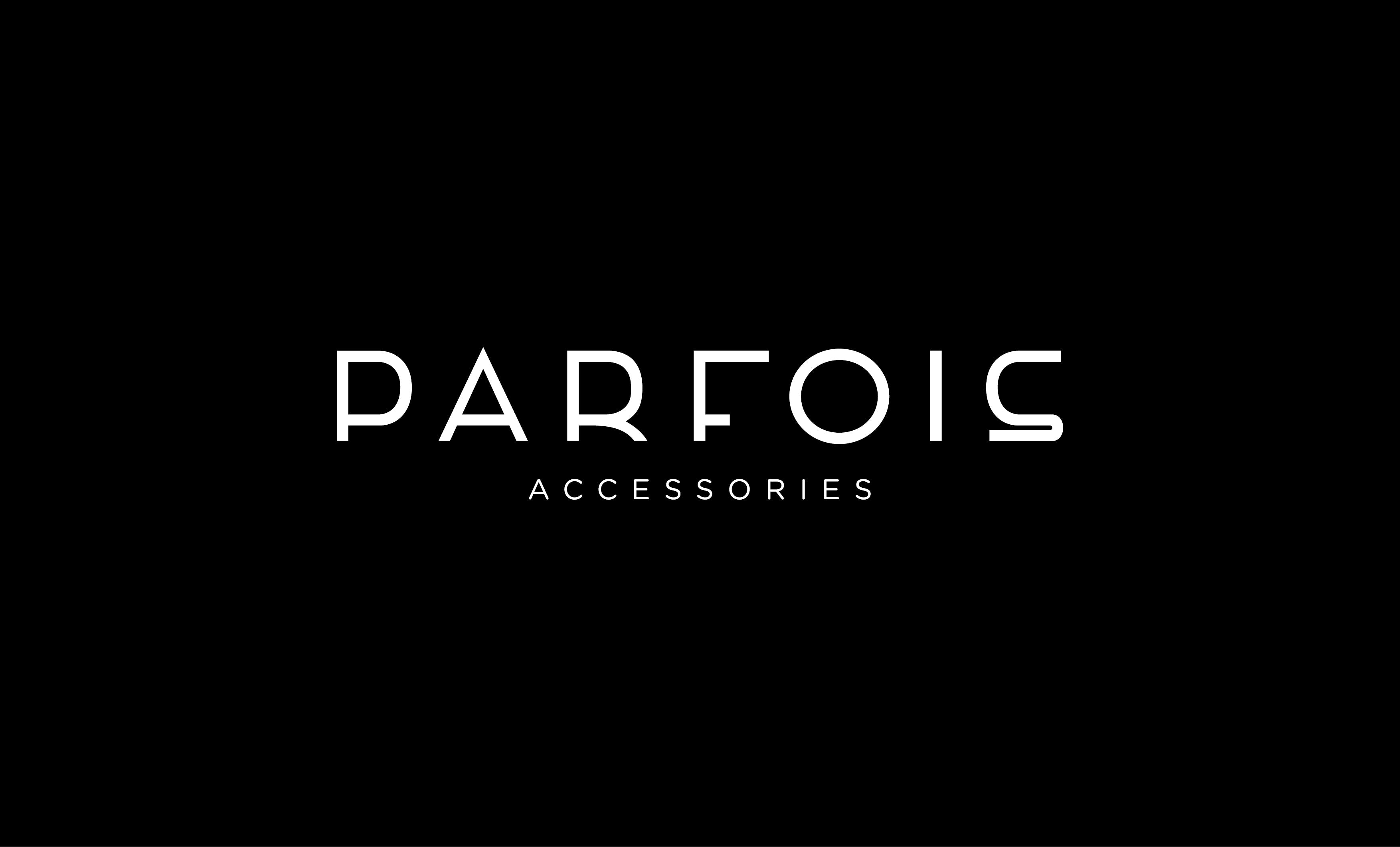 logo Parfois + accessories_black background