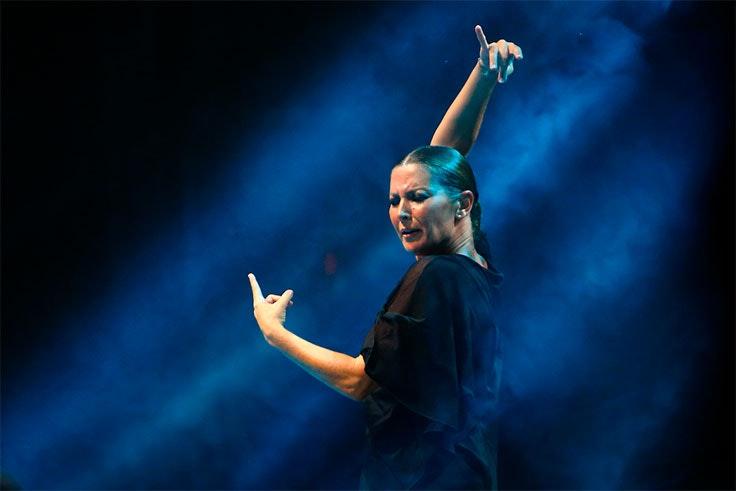 Actuación de Sara Baras en el Festival de San Javier