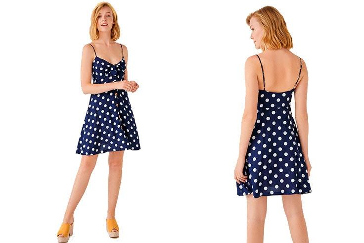 Vestidos-cortos-de-día-verano-2019-Vestidos-cortos-de-día-verano-2019-Women'secret-lunares-lunares