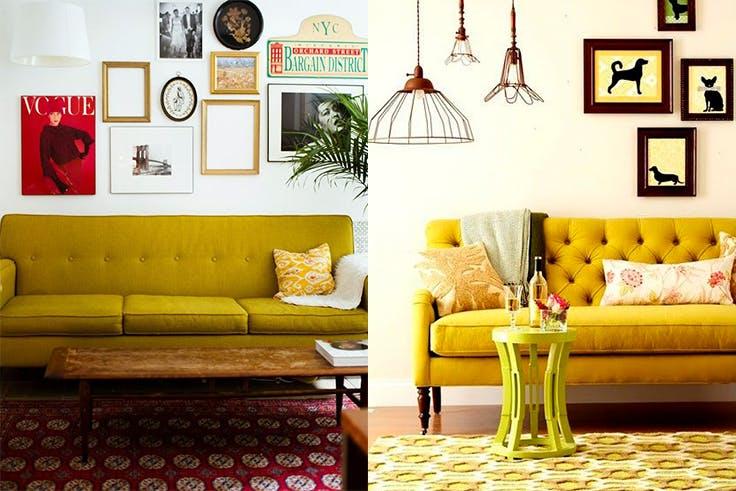 Todo al amarillo en decoración