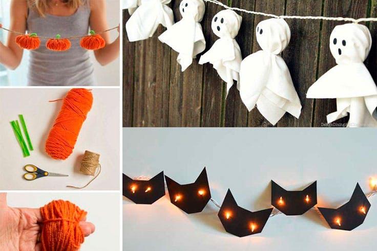 Guirnaldas para la decoración de Halloween