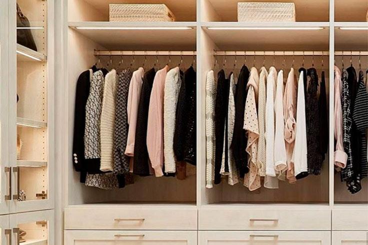 Trucos para organizar tu vestidor