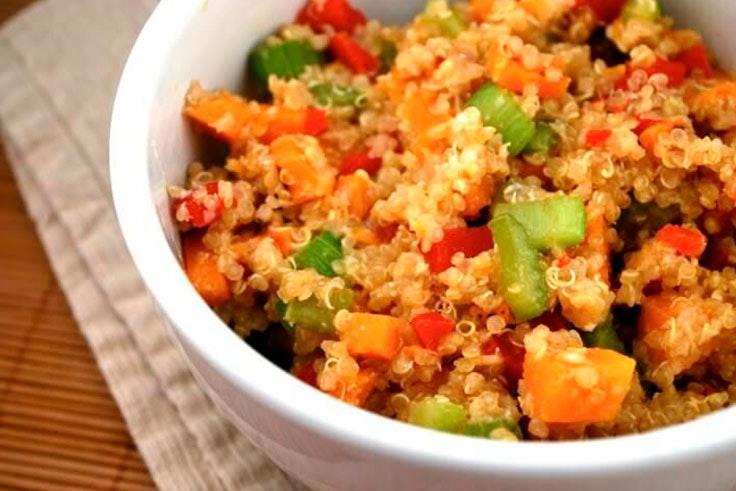 Receta fácil de quinoa con verduras
