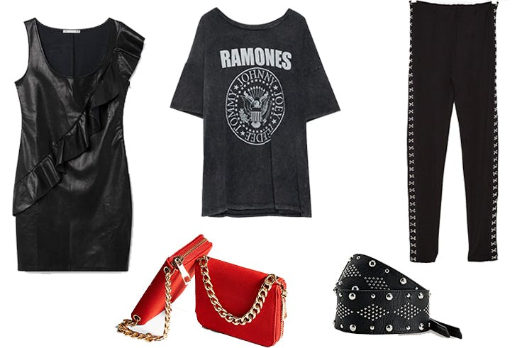 Looks de estilo rockero
