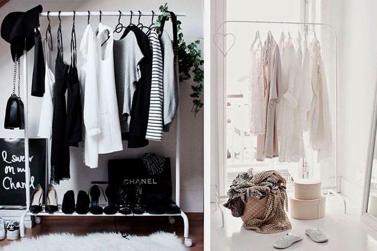 Tips de decoración con burro de ropa