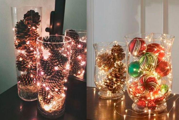 Decoración navideña para tu centro de mesa