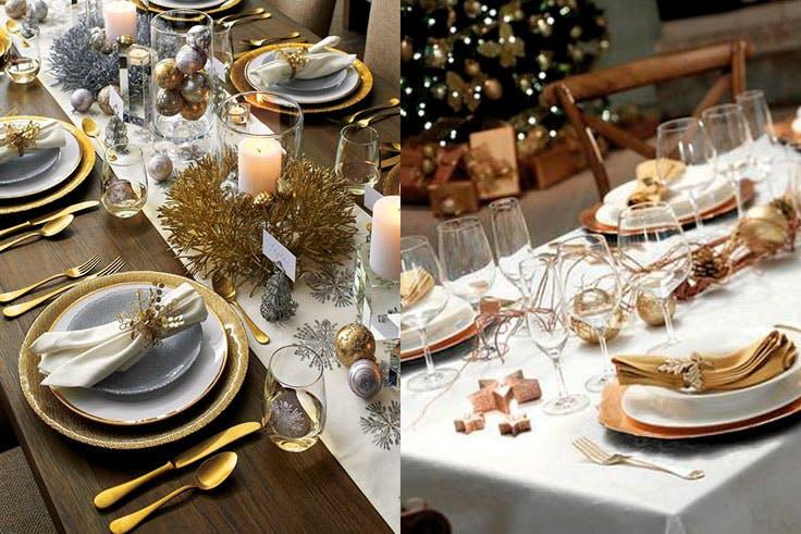 Color dorado para la decoración de tu mesa de Navidad