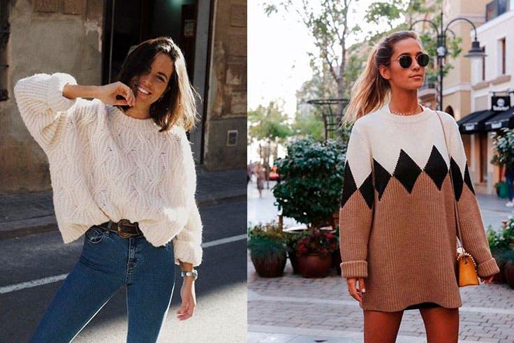 Outfits de invierno con jerséis